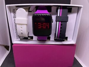 Jcpenny Women's Black Digital Watch With Multiple Bands #c45