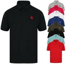 b596d20c Polo Shirt Mens Shirts Tee Top Short Sleeve T Shirt Golf Plain Horse New  Sport