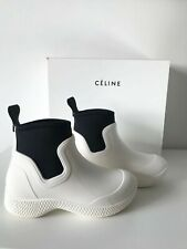 Old Celine Phoebe Philo White Rubber Rain Ankle Boots Shoes EU 36 US 6