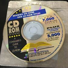 reviews on over 500 CD-ROM titles  CD ROM OF CD-ROMS A CONSUMER GUIDE 1993