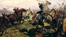 """battle of the hastings PICTURE CANVAS WALL ART """"20X30"""""""