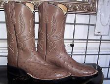 Anderson Bean Mink Full Quill Ostrich Leather Sole Boots 6 B Ladies 7 to 7.5