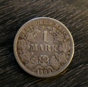Germany 1 mark, 1892 F
