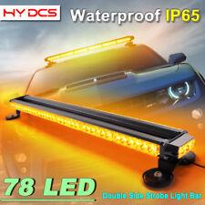 "38"" 78LED 234W Emergency Warning Double Side Strobe Flash Light Bar Amber Yellow"