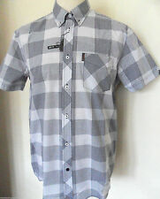 Ben Sherman Men's Button Down Short Sleeve Loose Fit Casual Shirts & Tops