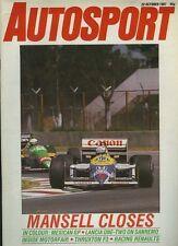 AUTOSPORT OTT 22nd 1987 * Messicano GP & Rally San Remo *
