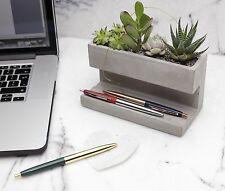 Kikkerland Large Concrete Desktop Planter & Pen Pencil Holder Office House Plant