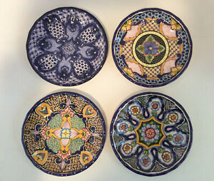 Pottery Barn DEL SOL Melamine Salad Plates ~ Mixed Set of 4 ~ New with Tags