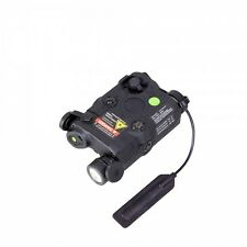 Bravo P15 GRN BLK AN/PEQ-15 LA5 LED Light Green Laser IR Lens Airsoft BB Rifle