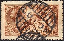SG 406 2/6d Reddish(Chestnut) Brown N64(12) De La Rue Seahorse in average used .