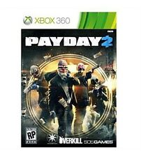 Payday 2 Microsoft Xbox 360 Video Game Mature Live Guns Fighting Heist Weapons