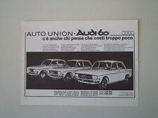 advertising Pubblicità 1968 AUDI 60
