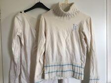 Kleiderpaket 38 M Freesoul Rollkragen Langarm Shirt beige weiß