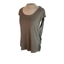 Naked Zebra Open Back Slouchy Knit Top Tan Brown S Small