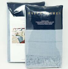 Ralph Lauren Margaret Linen / Cotton Blend Pillow Sham - Blue - Euro (Set of 2)