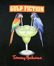 NWT $49 Tommy Bahama Gulp Fiction Black T Shirt Mens Size M Short Sleeve RELAX