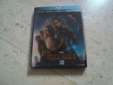 IRON MAN 3 LENTICULAR magnet 3D Blu-Ray RARE oop SteelBook MARVEL Robert Downey
