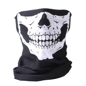 Mask Skull Face Skeleton Neck Scarf Tube Snood Balaclava Ski Motorcycle Biker