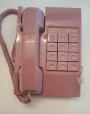 Vintage 80s MAUVE Pink Touchtone Phone Telephone Desk or Wall Tested