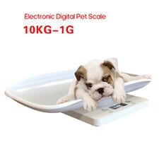 SH-RuiDu Digital Newborn Small Animal Scale LCD Display Pet Dog Weighting Scale with Comfortable Curving Platform 10KG Capacity