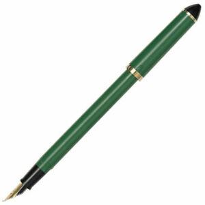 Sailor Fude de Mannen Calligraphy Fountain Pen : Green - Nib angle 55°