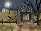 Billy Jacobs Sleepy Hollow Bridge Black Car Pumpkin Art Print 16 x 12