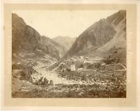 A. Clavier. Algérie, El Kantara Vintage albumen print.  Tirage albuminé  17x