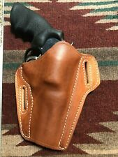"""Fits S&W 10 19 66 586 686 Colt Python 4"""" Tanned Leather Pancake Owb Holster"""