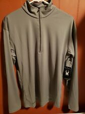 Spyder Men's Kelso MT DryWEB T-Neck Shirt Progear Layering Athletic $85 Gray S