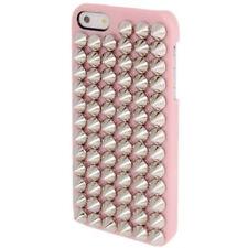 HardCase Punk Style / Nieten rosa für Apple iPhone 5 / 5S Hülle Etui Case Cover