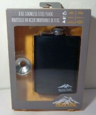 Lot Of 4 Pacific Trail New 8 Oz. Stainless Steel Black Flask