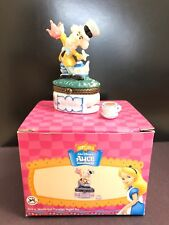 Midwest of Cannon Falls Porcelain Hinged Box Disney Mad Hatter with Teacup Phb