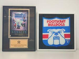 Western Bulldogs Chris Grant Loyalty 1998 Print Photo Framed + Other