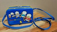 Vintage Ahiru No Pekkle Metal Tin Lunch Box Purse Bag Container Sanrio 1994 Case