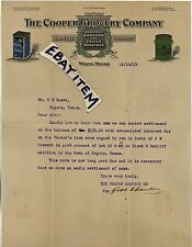 1914 LETTERHEAD Waco Texas COOPER GROCERY Chambers Barrett Milam Brewer Carver