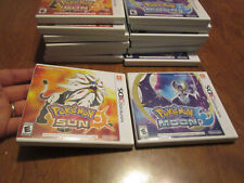POKEMON MOON & SUN Nintendo 3DS SET COMPLETE WORKS PERFECTLY 2 GAMES AUTHENTIC
