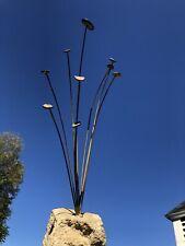Mediados siglo moderno Arte Escultura De Alambre Esmaltado Metal trepidante cinética móvil