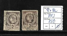 (57026) HAITI CLASSIC STAMPS #8 +8a 1883, USED   CAT.VL+ 15,00€