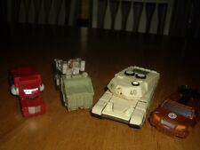 EUC Lot 4 Transformers Military Vehicles Tank QuillfireTruck Tractor Trailer 4-6