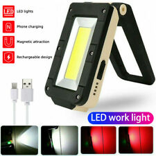 LED Work Light COB Inspection Lamp Magnetic Torch USB Rechargeable Car Garage