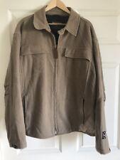 Woolrich Jacket Coat Tan Wool waist length Men's Size Large L Zip Front EUC