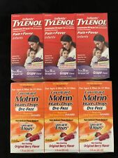 3 Infant Tylenol 1oz Exp 2/22 & 3 Infant Concentrated Motrin 1oz Exp 12/21 6Pack