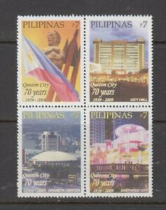 Philippine Stamps 2009 Quezon City, 70th anniversary.  Block of 4 set, MNH