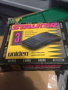 Uniden Wide Band Stalker Radar Detector RD2500s 3 Band X-K-Ka  NEW Old Stock 90s