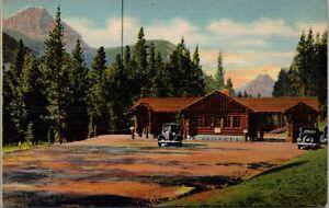 Linen Postcard Northeast Gate to Yellowstone National Park near Cooke~1613