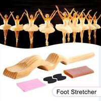 Wooden Foot Stretcher with Pull Strap Dancer Device Instep Ballet Exercise  K8I5
