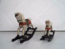 """Zwei antik Spielzeuge """"Die Schaukelpferde"""", Holz, Handarbeit, aus 50er"""