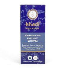 (7,30/100g) Khadi Pflanzenhaarfarbe Haar Farbe Reines Indigo Schwarz 100 g
