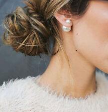 Pearl EARRINGS Double Sided WHITE MISE en Tribal Cuff high low birthstone new