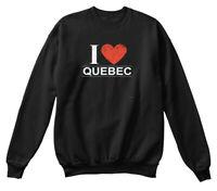I Love Quebec Hanes Unisex Crewneck Sweatshirt